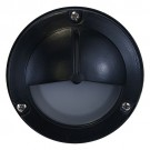Outdoor low voltage hood mini frosted glass dome lens cast aluminum round surface wall light in 3 colors