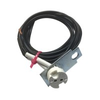 2030 pagoda socket assembly with bi-pin socket, mounting bracket and 5ft. of low voltage wire