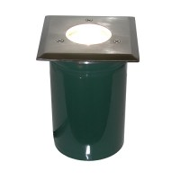 Outdoor landscape lighting MR16 PVC sleeve square stainless steel cover well light