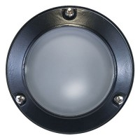 Outdoor low voltage mini frosted glass dome lens cast aluminum round surface wall light in 3 colors