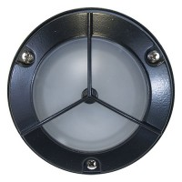 Outdoor low voltage tri grill mini frosted glass dome lens cast aluminum round surface wall light in 3 colors