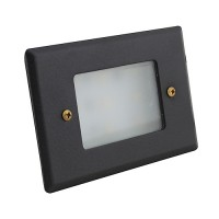 LED Outdoor landscape lighting black half brick step light 7110 series, cool white, low voltage 12volt