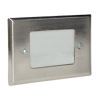 Outdoor landscape lighting stainless steel half brick step light face plate, 7110 series
