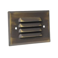 LED Outdoor landscape lighting architectural bronze half brick louver step light 7112 series, cool white, low voltage 12volt