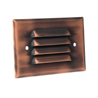 LED Outdoor landscape lighting antique bronze half brick louver step light 7112 series, cool white, low voltage 12volt
