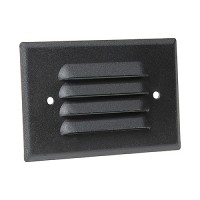LED Outdoor landscape lighting black half brick louver step light 7112 series, cool white, low voltage 12volt