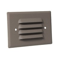 Outdoor landscape lighting bronze half brick louver step light face plate, 7112 series