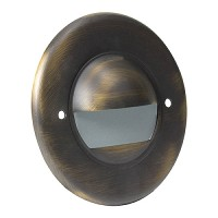 Outdoor landscape lighting round architectural bronze half brick step light face plate, 7121 series