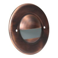 Outdoor landscape lighting round antique bronze half brick step light face plate, 7121 series