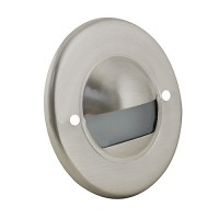LED Outdoor landscape lighting round stainless steel half brick step light 7121 series, cool white, low voltage 12volt