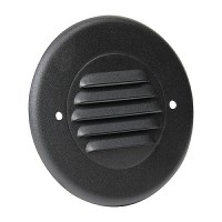 Outdoor landscape lighting round black half brick louver step light face plate, 7122 series