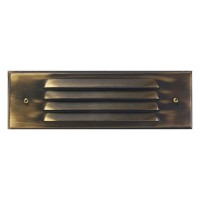 Outdoor low voltage louvered architectural bronze rectangle surface brick step wall LED light kit