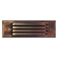 Outdoor low voltage louvered antique bronze rectangle surface brick step wall LED light kit