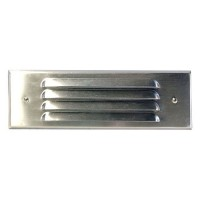 Outdoor low voltage louvered stainless steel rectangle surface brick step wall LED light kit
