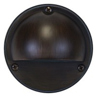 Outdoor low voltage hood architectural bronze solid cast brass round surface step light