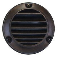 Outdoor low voltage louver grill architectural bronze solid cast brass round surface step light