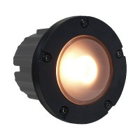 Outdoor low voltage PBT composite round recessed step & brick wall light in 2 colors