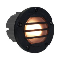Outdoor low voltage grill PBT composite round recessed step & brick wall light in 2 colors