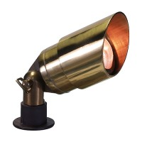 Landscape lighting hooded bullet spot low voltage