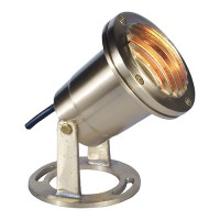Solid brass underwater pond light with grill