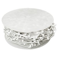 "LED white C7 Christmas light bulk spool stringer, blank sockets, 12"" spacing, 1000ft, AWG18, SPT-1 rated, 120VAC"