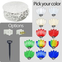 LED C9 Christmas string light white wire kit - Your Choice Color C9 Bulbs 1000ft