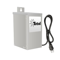 EMCOD outdoor ESL75W 75watt 12/15volt LED AC landscape transformer stainless steel with mechanical timer & photo eye
