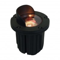 Premium landscape well light with shield