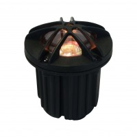 Premium landscape well light with open grill