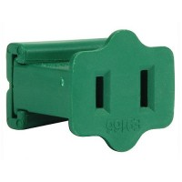 Christmas light commercial green wire AWG18 female plug, SPT-1, Gilbert