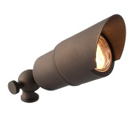 LED LB151-ARB-6-WW architectural bronze solid brass hooded bullet spot light low voltage warm white