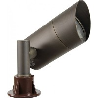 LED architectural bronze solid brass hooded bullet spot light low voltage warm white LB152-ARB-6-WW