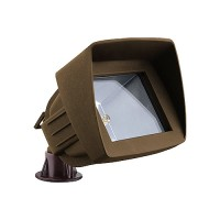 LED bronze outdoor landscape lighting hooded flood light low voltage warm white