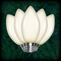 LED warm white C7 Christmas bulbs smooth, replacement, spare, 25 pack, 120VAC