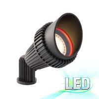 OUR MOST POPULAR LED black landscape lighting non-corrosive composite hooded spot light low voltage warm white
