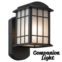 Maximus Craftsman COMPANION sconce security light, no camera, no audio, 3000K SPL06-07A1N4-BKT-K1