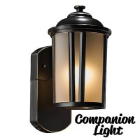 Maximus Traditional COMPANION Oil Rubbed Bronze sconce security light, no camera, no audio, 3000K SPL08-07A1N4-ORB-K1
