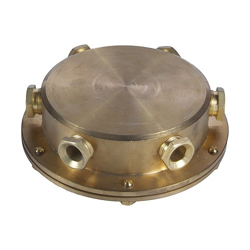 Underwater Junction Box Solid Brass 6 Outlet