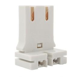 Fluorescent non-shunted medium bi-pin straight insertion socket for U-bend T8 LED tubes
