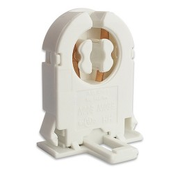 Fluorescent low profile non-shunted rotary lock bi-pin snap in socket for T8 LED  lamps