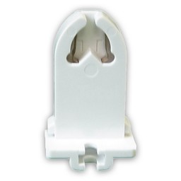 Fluorescent non-shunted medium bi-pin slide on socket for T8 LED  lamps