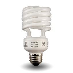 Bulk Mini Spiral Compact Fluorescent - CFL - 23 watt - 27K