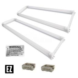 Bulk EZ LED T8 U-bend FROSTED retrofit kit fits 2 tube 2-foot light, Type-B, 4000K Natural White Color