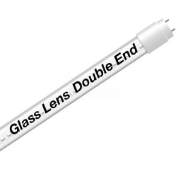 EZ LED T8 Double End Type B CLEAR glass lens retrofit tube, 18watt, 5000K Cool White Color