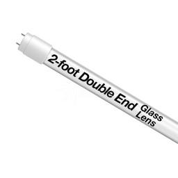 EZ Double End LED T8 2ft. 8watt FROSTED glass lens retrofit lamp tube 5000K Cool White light Type-B