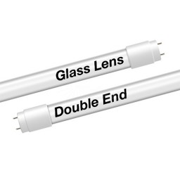 EZ LED T8 Double End Type B FROST glass lens retrofit tube, 18watt, 5000K Cool White Color