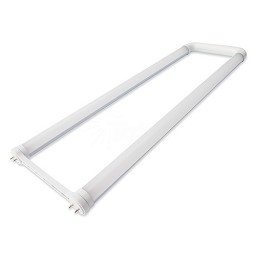 LED T8 U-bend U6 tube 16watt FROSTED lens 4000K natural white light Type-B ballast bypass retrofit 2ft