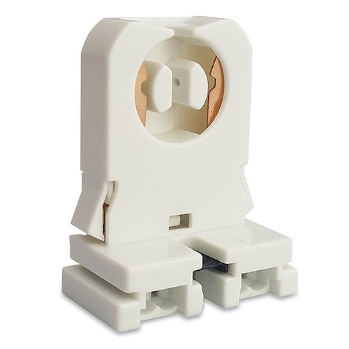 Fluorescent Non Shunted Bi Pin Snap In Socket With Nut For T8 Led Lamps