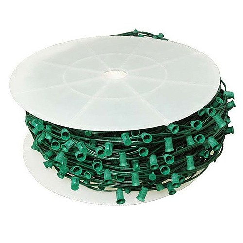 led green c9 christmas light bulk spool stringer blank sockets 12 spacing 1000ft awg18 spt 1 rated 120vac