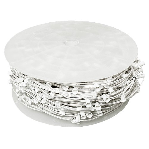 bulk led white c9 christmas light bulk spool stringer blank sockets 12 spacing 1000ft awg18 spt 1 rated 120vac